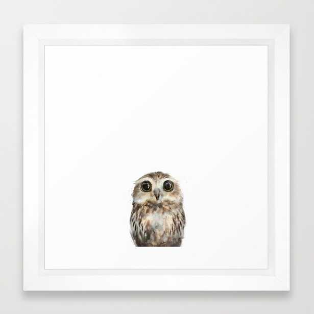 """Little Owl - FRAMED MINI 12""""sq. ART PRINT - Society6"""