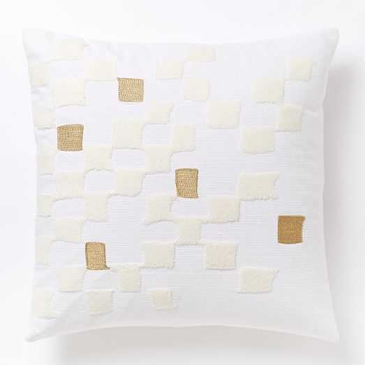 """Fading Check Pillow Cover-18""""sq.-Insert not included - West Elm"""