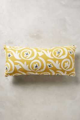 Luisette Embroidered Pillow - Yellow, 12x27, Insert not included - Anthropologie