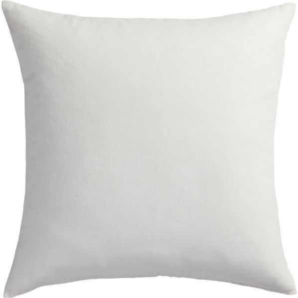 "leisure white pillow -23""- down  alt Insert included - CB2"