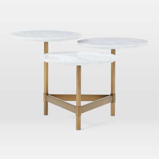 Tiered Circles Coffee Table - Marble - Antique Brass - West Elm
