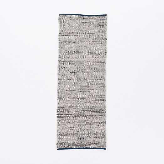 Plain Weave Sweater Wool Rug - Midnight-2.5'x7' - West Elm