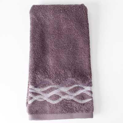 Sketchbook Waves Hand Towel - Purple - Wayfair