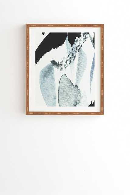 "ABSTRACTM5 Bamboo Framed Wall Art - 14"" x 16.5"" - Wander Print Co."