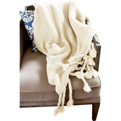Europa Throw Blanket - Cream - Wayfair