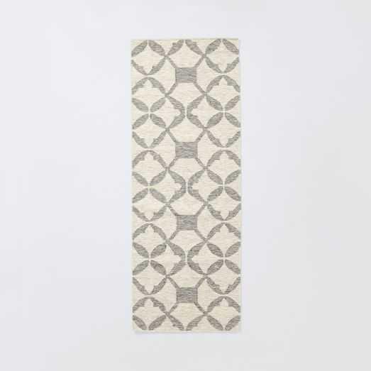 Tile Wool Kilim Rug - Platinum - 8' x 10' - West Elm
