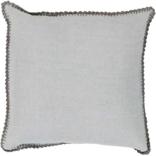 """Lura Linen Throw Pillow - Slate/Gray   - 18"""" Sq- Down fill insert - Wayfair"""