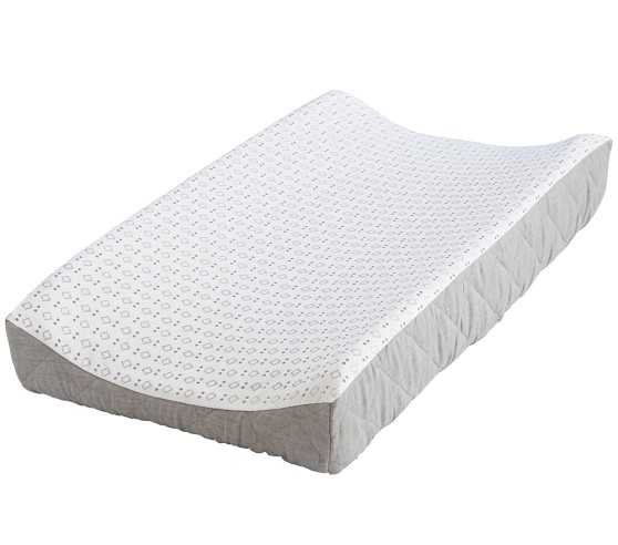 Belgian Flax Linen Changing Pad Cover-Gray - Pottery Barn Kids
