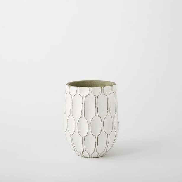 Short Wide Vase - White - West Elm