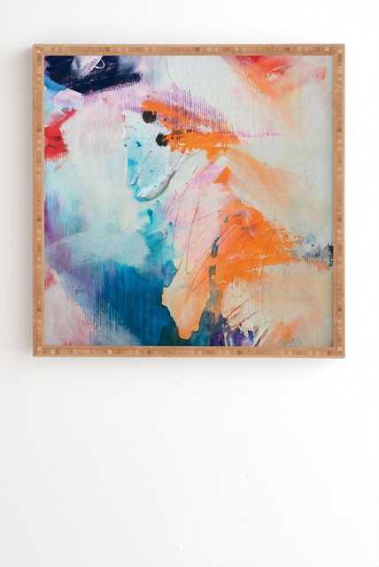 "PUBLISH IT Bamboo Framed Wall Art - 20"" x 20"", No Mat - Wander Print Co."