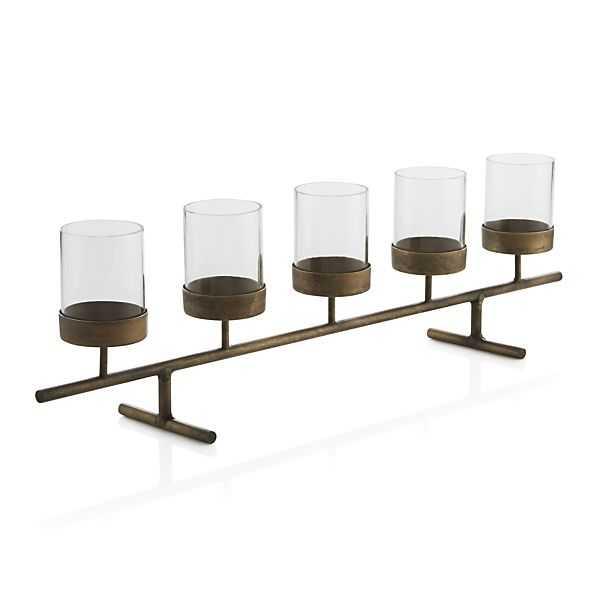 Asta Brass Tea Light Centerpiece - Crate and Barrel