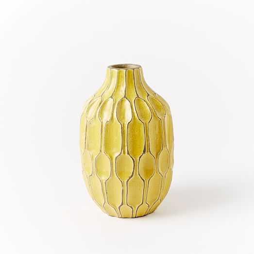 Tall Shoulder Vase -Honeycomb - West Elm