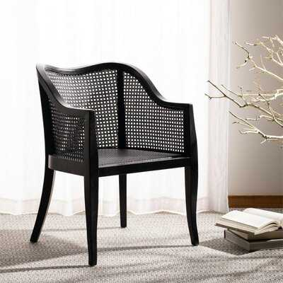 Black Cane Arm Chair - Wayfair