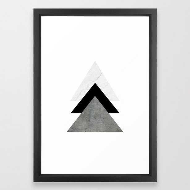 Arrows Monochrome Collage Framed Art Print - Society6