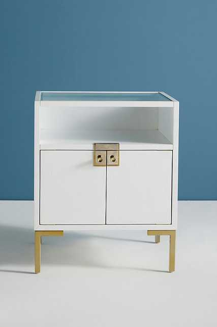 Ingram Glass Top Nightstand- This item is available on Mar 7, 2021 - Anthropologie