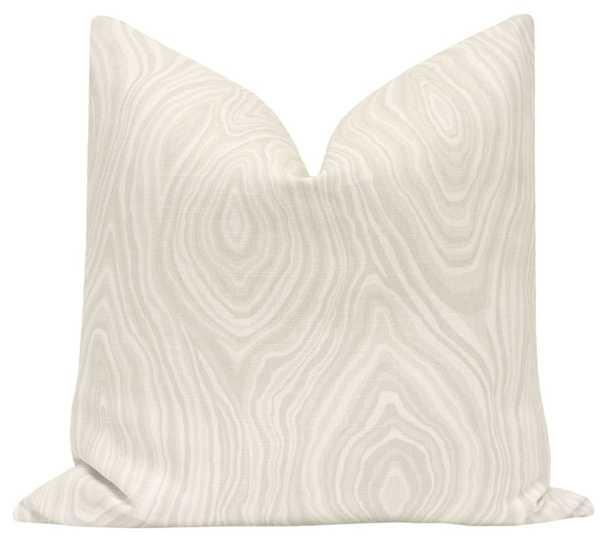 Agate Linen Print // 20x20 Natural Cover - Little Design Company
