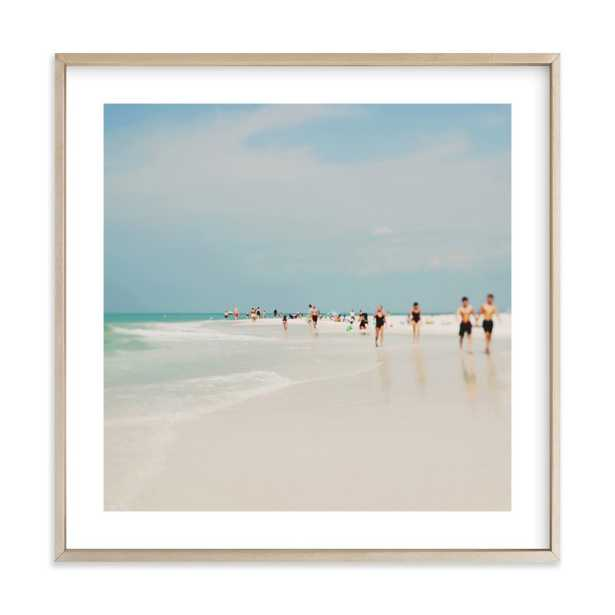 """White Sand, 30"""" Framed Art - Minted"""