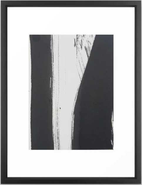 Ink2 Framed Art Print - Vector Black - - Society6
