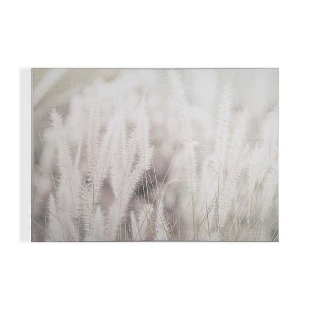 """40 in. x 28 in. """"Tranquil Fields"""" Printed Wall Art, Ivory/Blush Pink - Home Depot"""