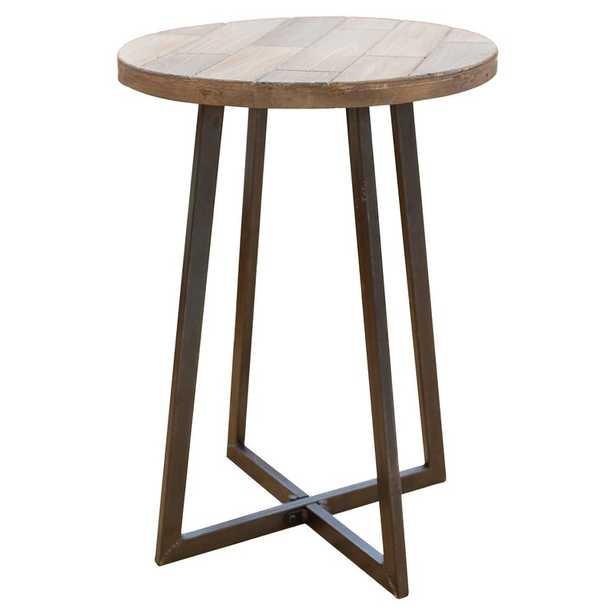 Tisbury Rustic Wood End Table - Wayfair