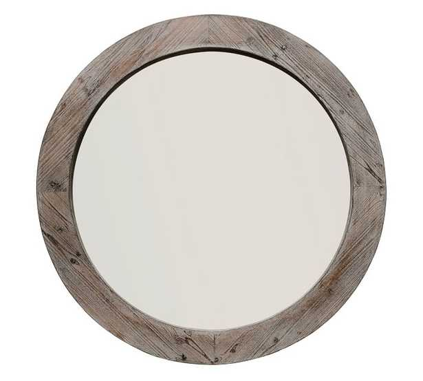 """Wood Mirror, Natural - 36"""" Round - Pottery Barn"""
