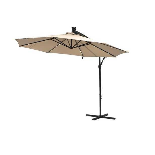 10' Octagonal Lighted Market Umbrella - Wayfair