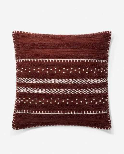 Valence Pillow, Burgundy, ED Ellen DeGeneres Crafted by Loloi - Lulu and Georgia