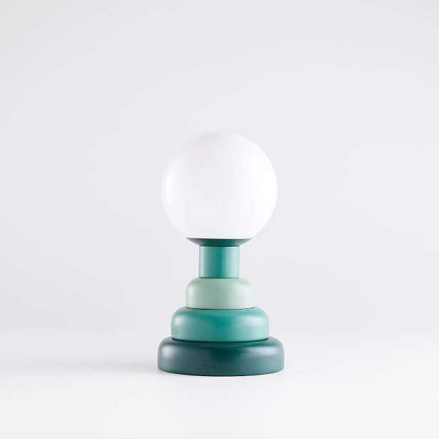 Henley Green Stacked Table Lamp - Crate and Barrel