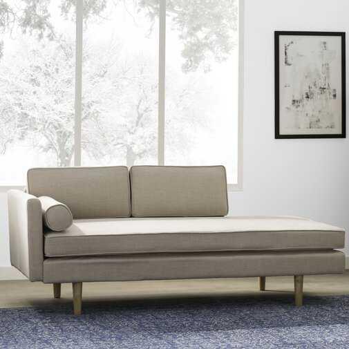 Mixon Chaise Lounge, Beige Linen - Wayfair