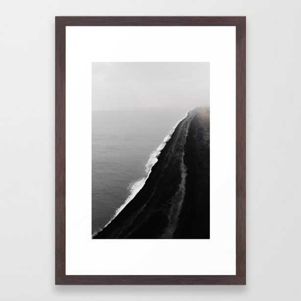 BLACK SAND BEACH Framed Art Print - Society6