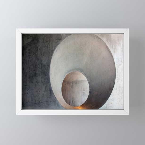 Concrete Framed Mini Art Print by christineiris - Society6