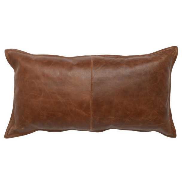 Leather Kona Brown Pillow - Burke Decor