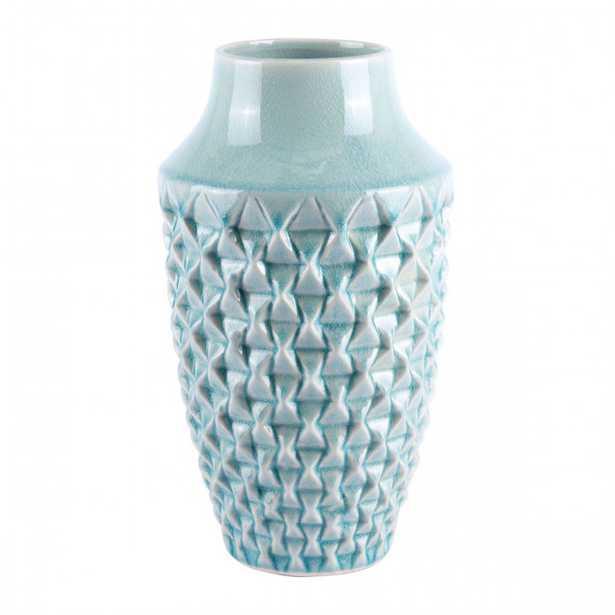 Brick Small Vase Light Teal - Zuri Studios