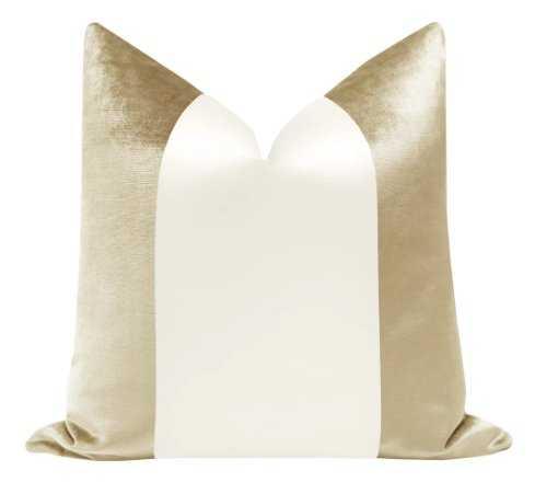PANEL Colorblock :: Faux Silk Velvet // Champagne + Alabaster Silk - Little Design Company