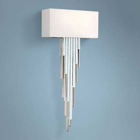 "Metropolitan Crystal Cascade 22 3/4""H Chrome LED Wall Sconce - Lamps Plus"