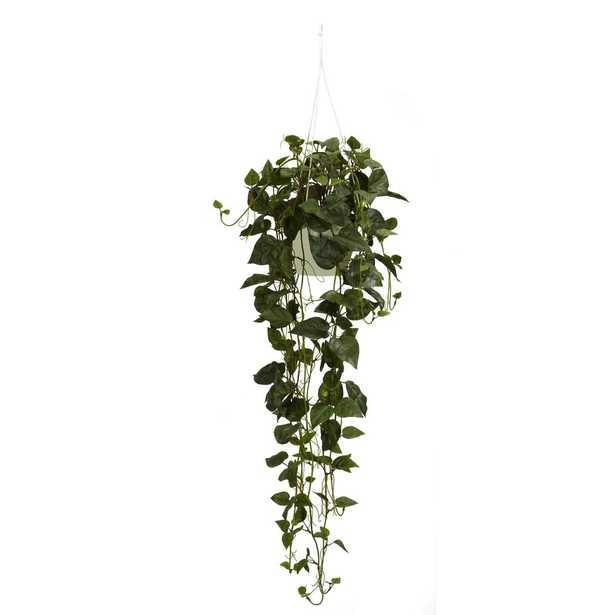 Philodendron Hanging Basket Silk Plant - Fiddle + Bloom