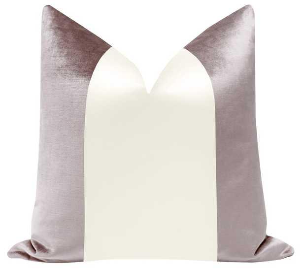 PANEL Colorblock :: Faux Silk Velvet // Smokey Lavender + Alabaster Silk - Little Design Company