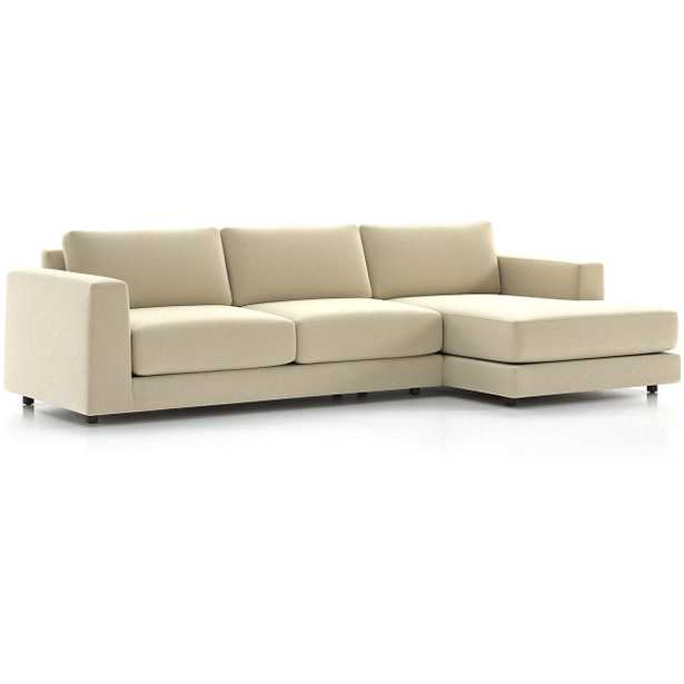 Peyton 2-Piece Sectional - Van Gogh, Oyster - Crate and Barrel