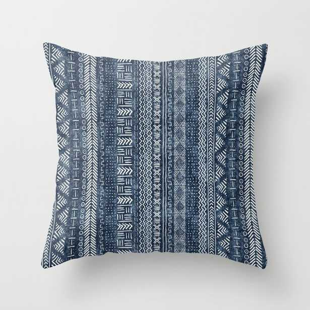 Mud Cloth Stripe Throw Pillow - 20x20 with Insert - Society6