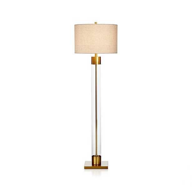Avenue Floor Lamp - Brass - Crate and Barrel