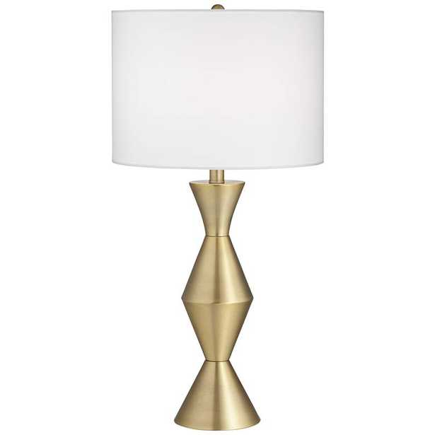 Elka Brass Finish Metal Modern Table Lamp - Style # 81D52 - Lamps Plus