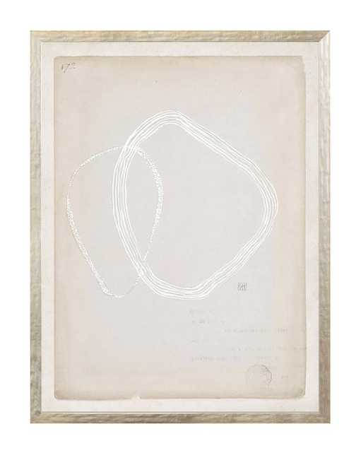 """BEIGE ABSTRACT 1 Framed Art - 25"""" W x 33"""" H - McGee & Co."""