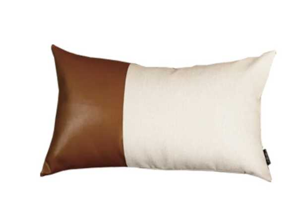Alverez Faux Feather Lumbar Pillow Cover - Wayfair