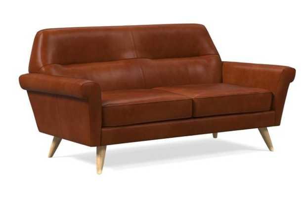 "Denmark Leather Loveseat (66"") - West Elm"