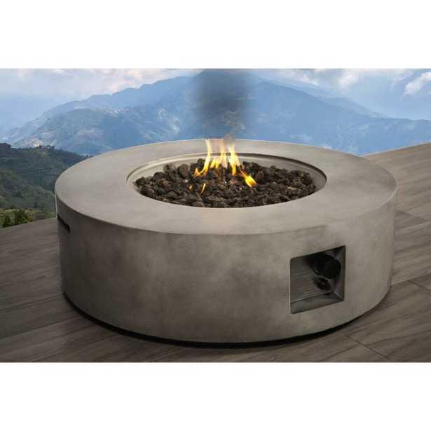 Santiago Concrete Propane Gas Fire Pit Table - Wayfair