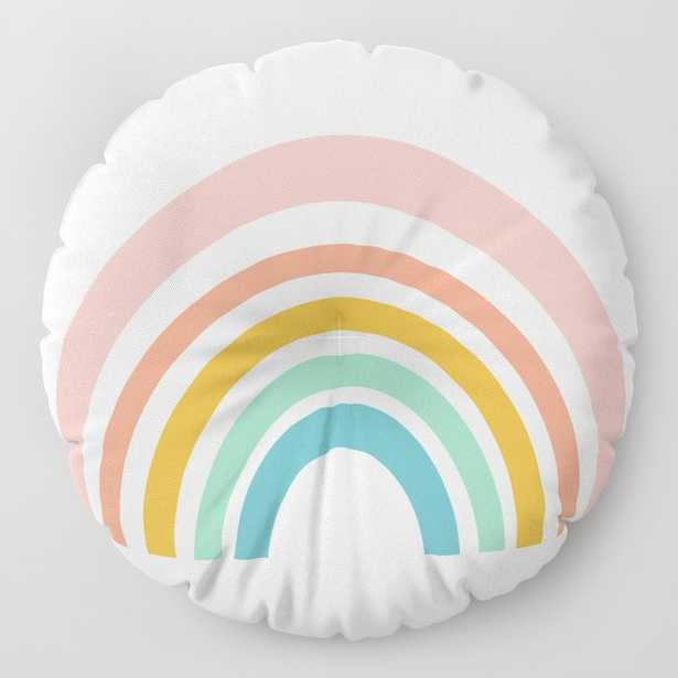 Simple Happy Rainbow Art Floor Pillow - Society6