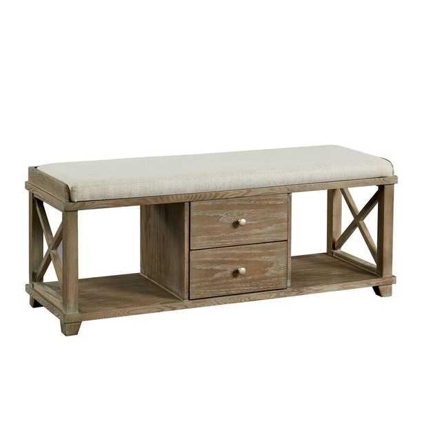 Reedsburg Wood Storage Bench - Wayfair