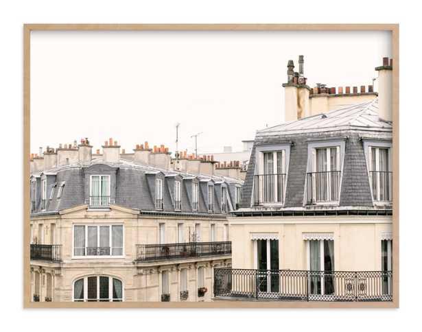 Parisian Windows - 40x30 - Natural Wood Frame - Minted