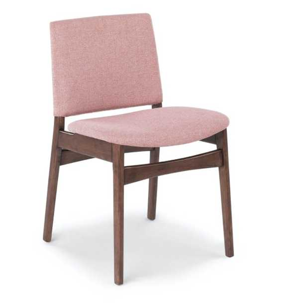 Nosh Berry Pink Walnut Dining Chairs (set of 2) - Article