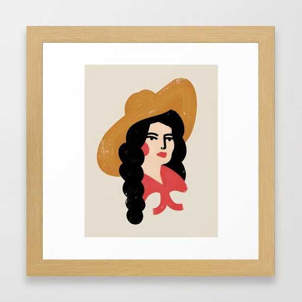 Abstract Cowgirl Framed Art Print, 12x12 - frame conservation natural - Society6